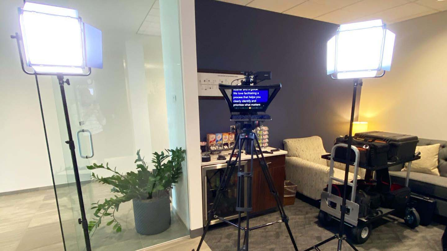 behind the scenes of video shoot by Clark Young Videography - Omaha, NE
